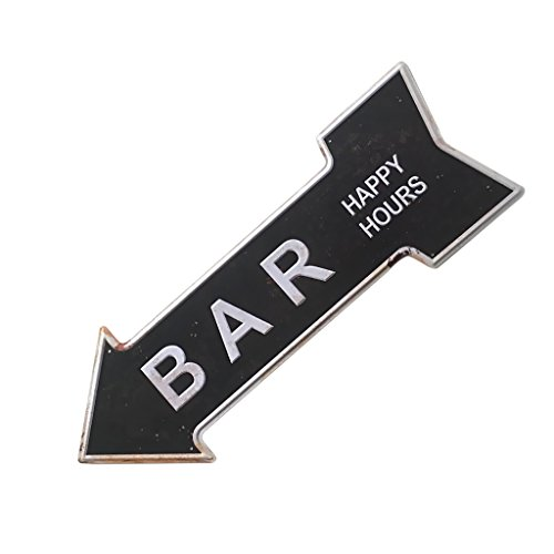 Sharplace Retro Pfeilschild Pfeil Schild Blechschild Hinweisschild Türschild, Kaffee Café Deko - Bar, 450 * 160mm