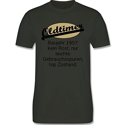 Geburtstag - 60. Geburtstag Oldtimer Fun Baujahr 1957 - Herren Premium T-Shirt Army Grün