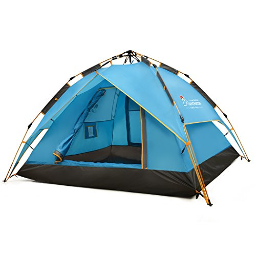 Mountaintop 2-3 Persons Automatic Pop Up TentInstant TentFamily TentBackpacking TentsBeach Tent(Hydraumatic System Technology) 210 x180 x138cm