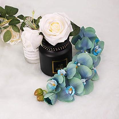 N&T NIETING Orquídea Artificial Flor de Phalaenopsis, 2 Piezas de simulación Real con Tallo para Boda, arreglo de Flores, decoración de Centro de Mesa, Decoraciones de Fiesta