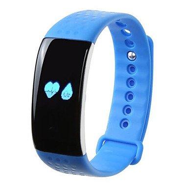 P-T-K1 Oxygen Heart Rate Intelligence Bracelet Waterproof IP65 Telephone Text Messages to Remind Movement Track Intelligent Motion Bracelet , vivid pink
