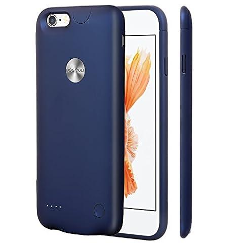 DOGIDOLI iPhone 6 6S Coque chargeur 2500 mAh Ultra fin