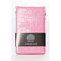 DIMPLES, Top modischer Score Tarjetas Soporte en Colores Vivos, Pinker Score Card Holder by (Rosa)