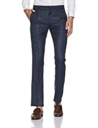 V Dot By Van Heusen Men's Slim Fit Formal Trousers