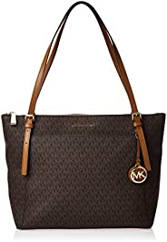 Michael Kors Voyager Large Logo Top-Zip Tote Bag for Women-Brown