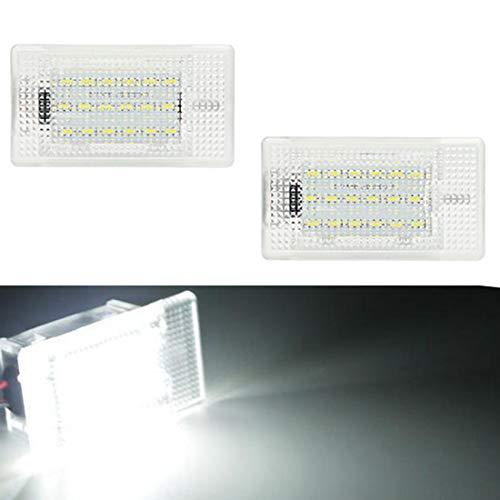 VIGORFLYRUN PARTS LTD 2pcs 18 LED Luz de Matrícula Bombilla Licencia Número Placa Lámparas de Luz para MK1 Facelift Escort F-iesta Granada Scorpio Focus 11 Cabriolet