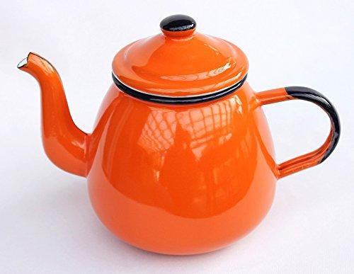DanDiBo Teekanne 582AB 0,75 L Orange emailliert 14 cm Wasserkanne Kanne Kaffeekanne Emaille...