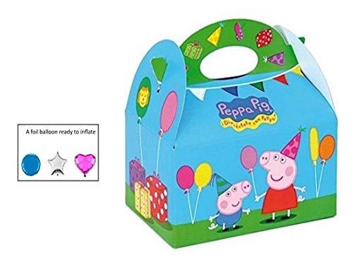 y Meal Box ~ Kinder, die Kinder tragen Food Geburtstag Party Beute Tasche ~ Peppa & George ()