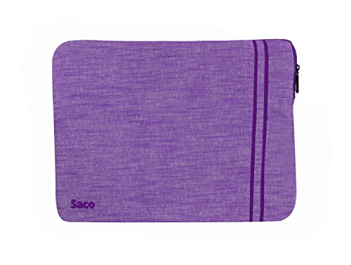 Saco Laptop Notebook Sleeve Bag Zipper Case with accessories adapter pocket for Apple MGX72HN/A MacBook Pro Notebook 13.3 inch laptop (Purple)  available at amazon for Rs.611