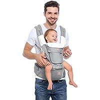 Gris Bebamour Baby Carrier Sling 3 en 1 Mochila ergon/ómica para portabeb/és para beb/és reci/én nacidos transpirables y suaves para beb/és y ni/ños peque/ños