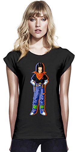 Android 17 Continental T-shirt à manches Rolled des femmes Small