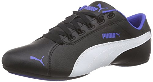 Puma Girl\'s Janine Dance 2 Jr Black, White and Dazzling Blue Sneakers - 4 UK/India (20 EU)