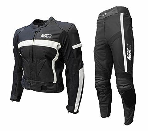 MKR Lot de 2Cuir & Textile pour moto avec Race Furniture & genou coulisses pour femme & Jeans