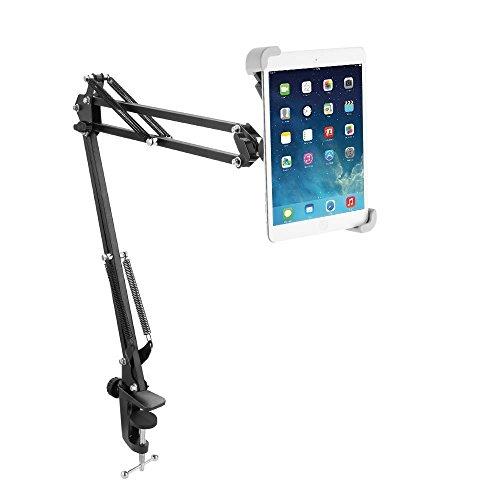 "Miuko Tablet Halterung, 360 Drehfunktion, Stabiler Aluminium Halter für iPad/iPad Air Mini, Galaxy Tab und Windows, Android Tablets von 7.8-12.6"""