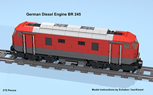 German diesel engine BR 245 (red): Lego MOC building instructions (Lego Train MOC plans Book 12) (English Edition) por E. Chaton