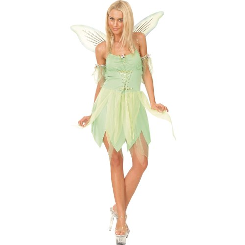 LADIES NEVERLAND FAIRY SEXY FANCY DRESS ALL SIZES TINKERBELL (Für Erwachsene Fancy Dress Kostüme Fairy)