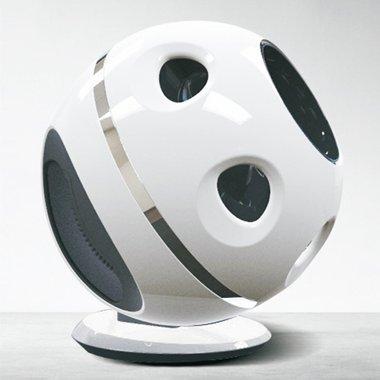 Tisch Ventilator oszilierend weiß schwarz ohne Rotor-Blätter extra leise mit Luftreiniger