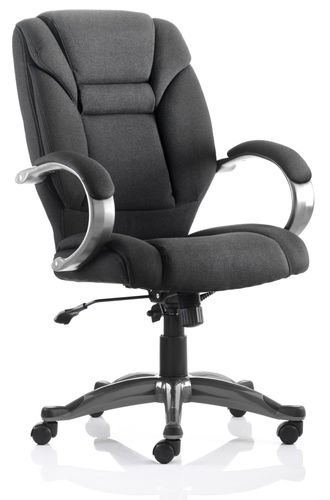 Buy Galloway Black Fabric Executive Office Chair on Line