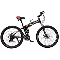 26 inch mountain bike foldable bicycles,black