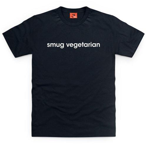 Smug Vegetarian T-Shirt, Herren Schwarz