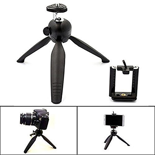 Eloies-Simpex-6-Feet-Lightweight-Photo-Video-Tripod-for-DSLR-and-Mobile-Phones-Action-Cameras-COMBO-DEAL-Contains-6-Feet-Tripod-7inch-DSLR-Mobile-Table-Tripod-Metal-Clip-Microphone-for-Audio-Recording