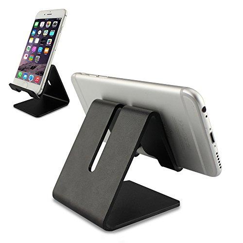 Engync Muti-Winkel Handy Ständer Tisch Zubehör Handyhalterung für iPhone Samsung Galaxy iPad E-Reader Tablet und andere Smartphones-Schwarz