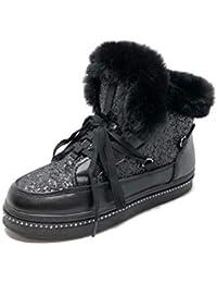 Angkorly - Scarpe Moda Sneaker Stivaletti Scarponcini Stivali da Neve  Street Donna Pelliccia Finta Glitter Borchiati 5a3cb1b09a8