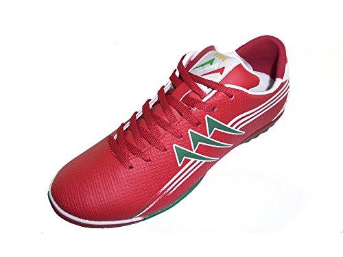 AGLA PROFESSIONAL NEW FIVE OUTDOOR scarpe calcetto calcio a 5 futsal ROSSO BIANCO VERDE