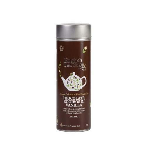English Tea Shop - Chocolate, Rooibos & Vanilla, BIO, 15 Pyramiden-Beutel in Dose