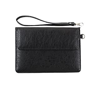 DooDa PU Leather Pouch Case Cover With Magnetic Closure & Video Viewing Stand For ASUS Fonepad 7 (ME372CL)