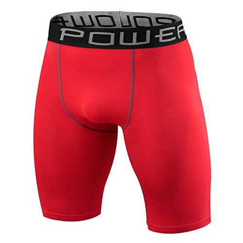 Herren Kind PowerLayer Funktionsunterwäsche Kompressionsshort Armour Compression Shorts Skins - Medium - Red