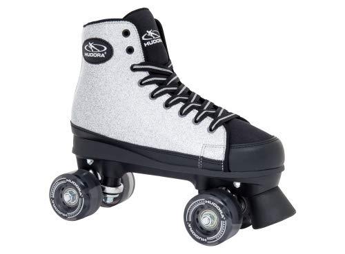 HUDORA Rollschuhe Roller-Skates Silver Glamour - Disco-Roller, Gr. 39, 13063
