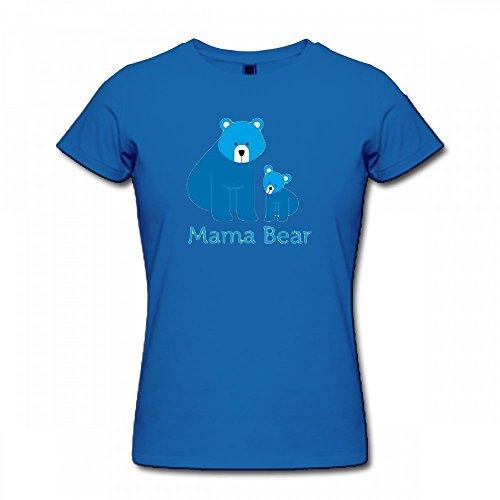 qingdaodeyangguo T Shirt For Women - Design Mama Bear Shirt blue