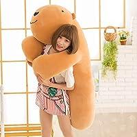 hzbftoy Soft Plush Toy,Capybara Plush Toy,Girls Gift Baby Pillow Plush Cushion Sleeping Dolls Gifts 130Cm Brown