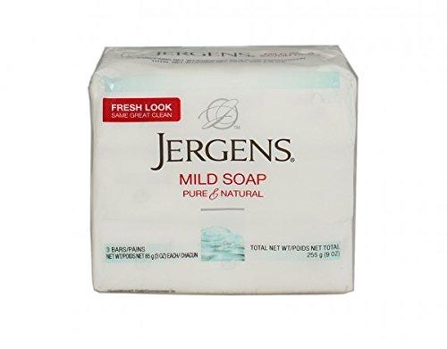 Jergens Milde Seife, Gesichts-, 3Bars, 3oz-ea (2Stück) (Bar Jergens Soap)