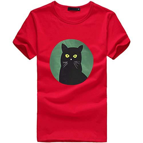 MIRRAY Damen T Shirt Mädchen Plus Size Print Tees Shirt Langshirt Kurzarm Bluse ()