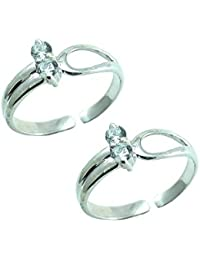 Style A Bit Sterling Silver Toe Ring Set For Women TOE014