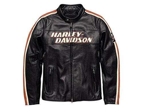 Preisvergleich Produktbild HARLEY-DAVIDSON Torque Herren Leder Jacke,  98026-18EM,  4XL