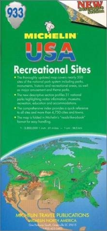Carte routière : U.S.A. Recreational Sites, 933, 1/3850000 par Carte Michelin