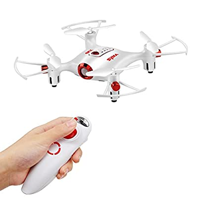 DoDoeleph Syma X20-S Without Camera Mini Pocket RC Drone Gravity Sensor Headless Auto Hover Mode 360° Stunt Flip One Key Take-off Landing Quadcopter For Kids
