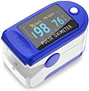 Glory Mom LED Fingertip Pulse Blood Oxygen SpO2 Saturation Oximeter, CE Certified - White