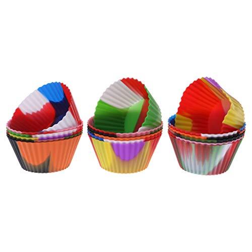 Qiman 6 Stücke Silikon Cupcake Form, Schokolade Kuchen Fall Backen Cups Liner Muffin Dessert Plätzchenform Backen Cup Party (Star Cupcake-fällen Wars)