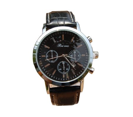 bei-nuo-mens-watch-silver-dial-black-case-top