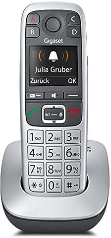 Gigaset E560 Telefon - Schnurlostelefon / Mobilteil - mit Farb-Display - Freisprechfunktion - Grosse Tasten Telefon - mit SOS Taste - Analog Telefon -