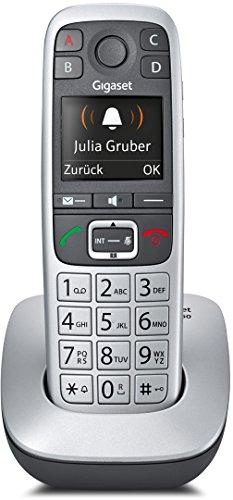 Gigaset E560 Telefon - Schnurlostelefon / Mobilteil - mit Farb-Display - Freisprechfunktion - Grosse Tasten Telefon - mit SOS Taste - Analog Telefon - platin