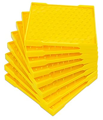 Betzold 89733 Double Sided Isometric Geoboard Stackable (8-Piece) by Betzold