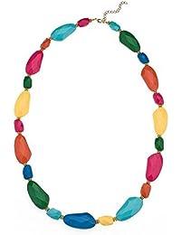 Unique Bright Long Necklace - Statement unusual necklace