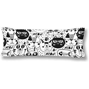CiCiDi Seitenschl/äferkissen Kissen-Bezug 40x145 cm Nettes Pinguin nahtloses Muster Atmungsaktives Kissenh/üllen mit Rei/ßverschluss Baumwollen und Polyester