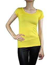 Muse t-shirt à manches courtes pour femme basic débardeur tunique à manches courtes