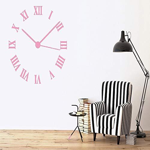 jiuyaomai Wand Vinyl Aufkleber Dekor Zifferblatt Römische Ziffern Kreis Uhr Wandtattoos Modern Home Decorate Wohnzimmer Kunst Aufkleber 5 45x42 cm